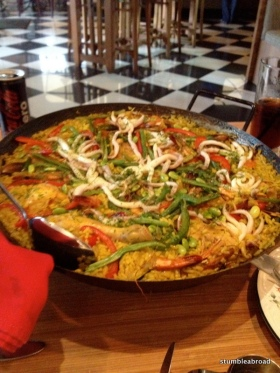 Mom enjoyed good paella and great friends at Tapas Movida.