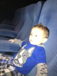 Evan enjoyed his first movie at the movie theater: The Lorax