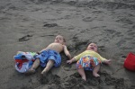 Two boys at a beach