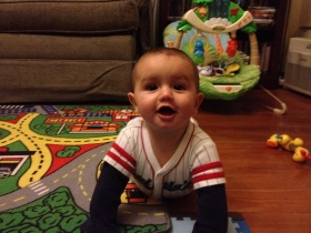 Joshua working on crawling