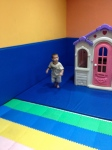 Evan running around in the building's playroom