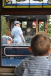 Riding the steam train