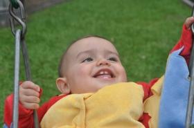 Josh loves the swings!