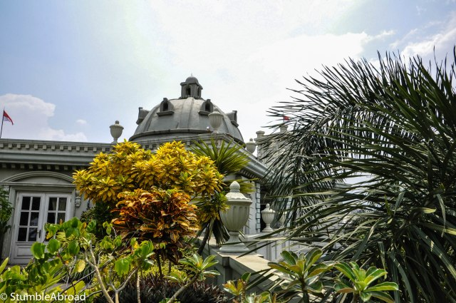 Gorgeous Architecture. It's easy to forget you are in Jakarta.