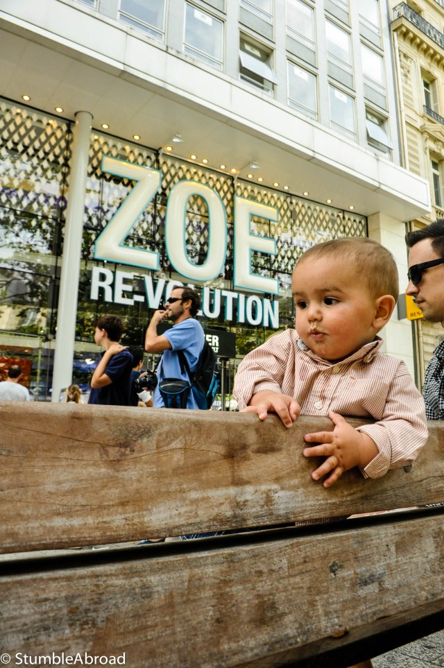A Baby in Champs Elysees