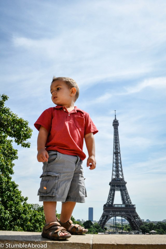 I'm taller than the tower mommy!
