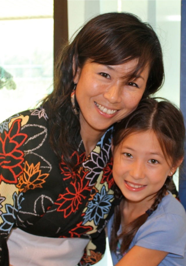 Kaho with her oldest girl