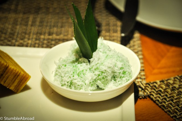 My favorite: Sticky rice ball with shaved coconut