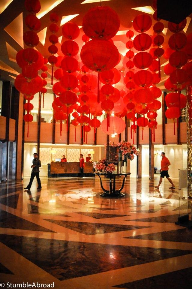 The Lobby of the Mandarin Oriental Hotel