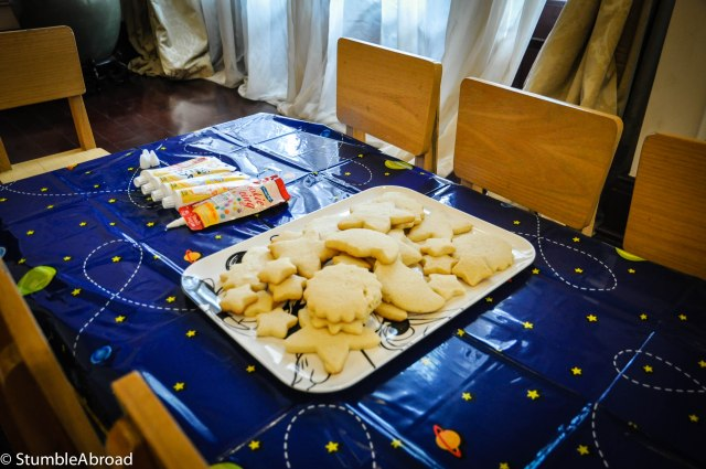 Space cookies for decorating