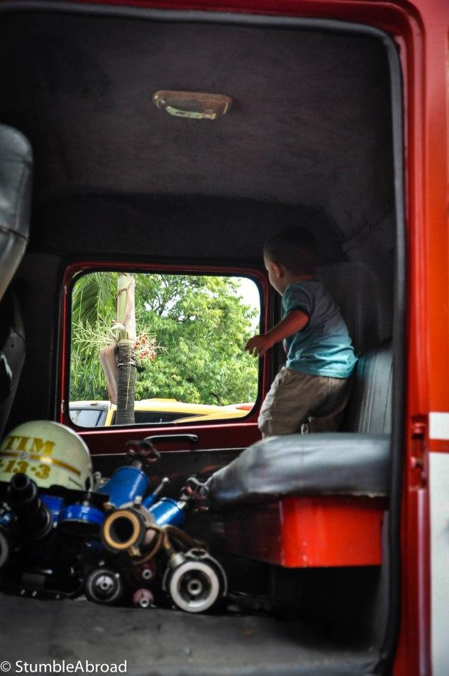 Inside the truck