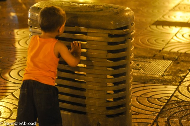 Evan was very impressed by the street vents