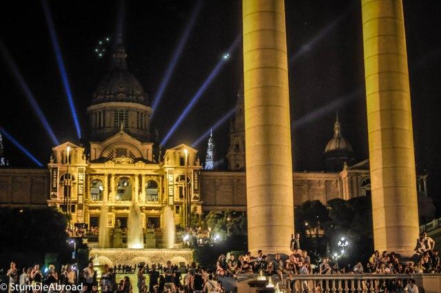 Amazing view of Plaza Espanya