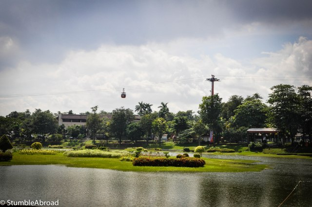 This garden is shaped like the Indonesian archipelago
