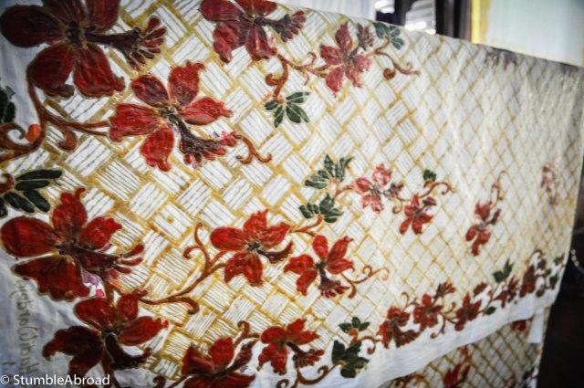 Gorgeous batik halfway done