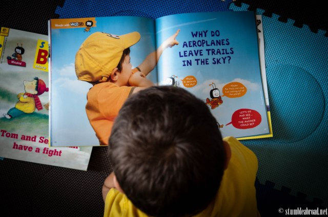Reading about airplanes...