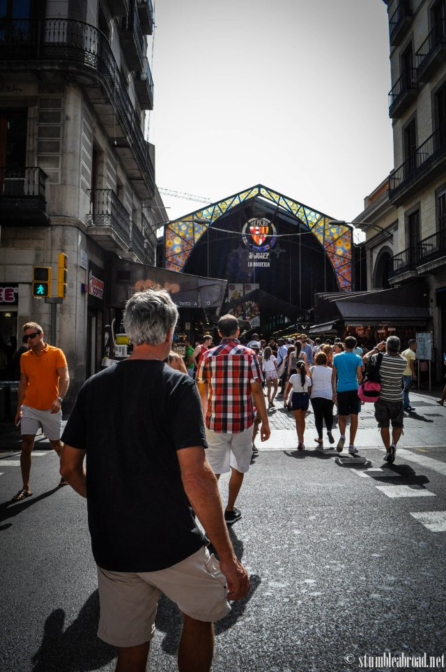 La Boqueria is just a few steps from La Rambla, close to the Liceu.