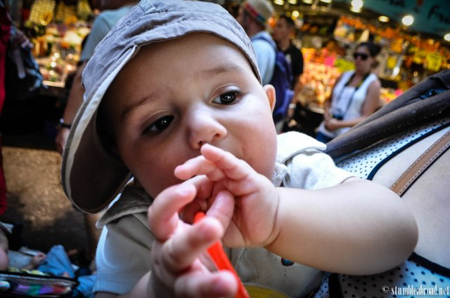 Joshua enjoying a fresh fruit juice.
