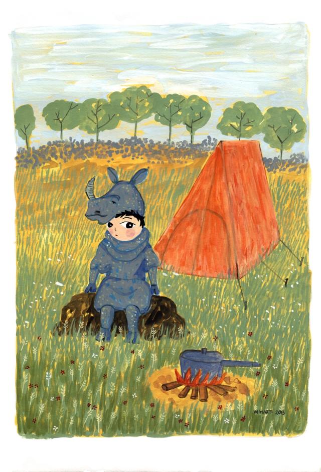 Cute Rhino Print