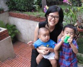 Winarti with her gorgeous boys
