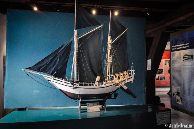 Replica of an ancient boat