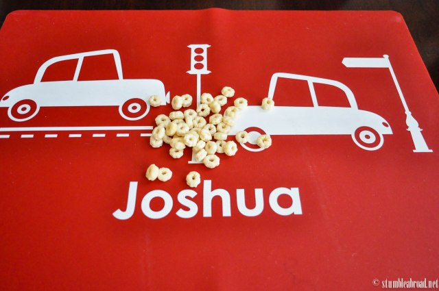 Joshua's new playmat.
