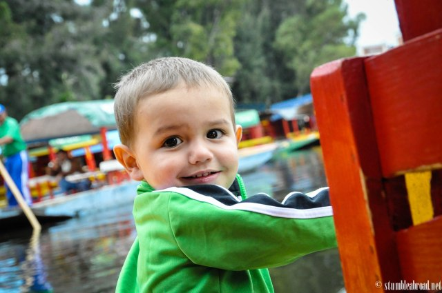 Enjoyed a boat ride in Xochimilco