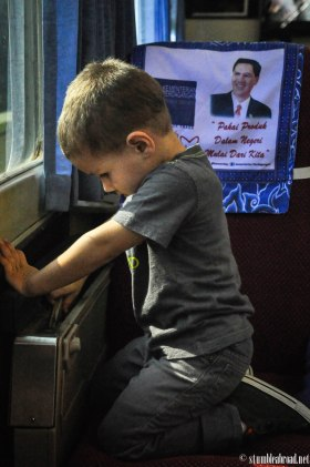 Exploring every nook and cranny in the train