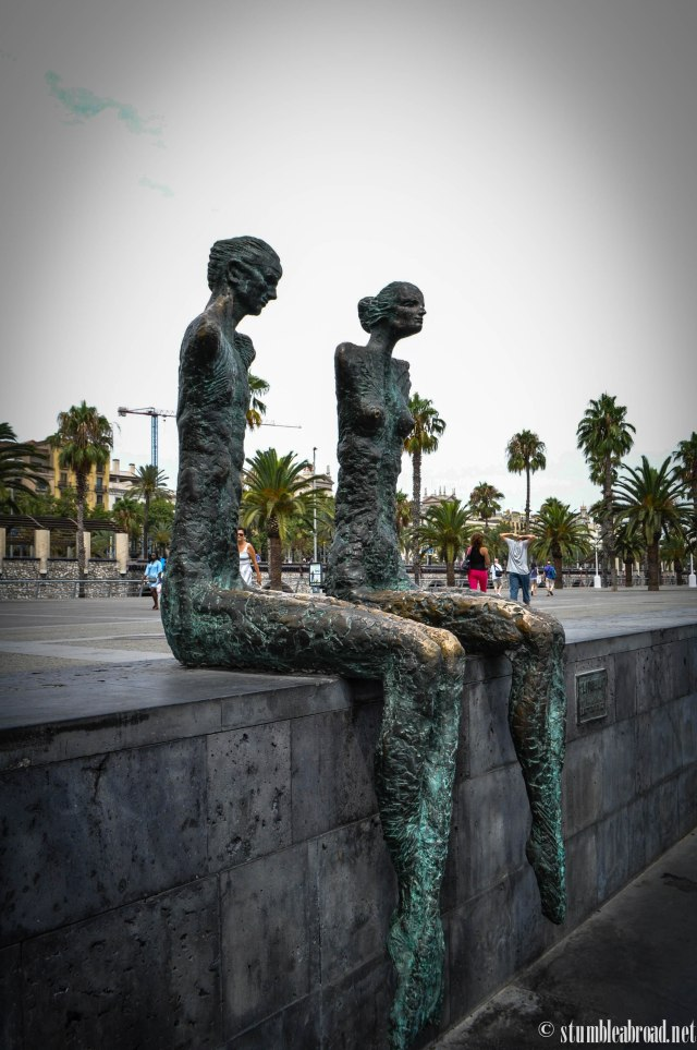 Statues by the water