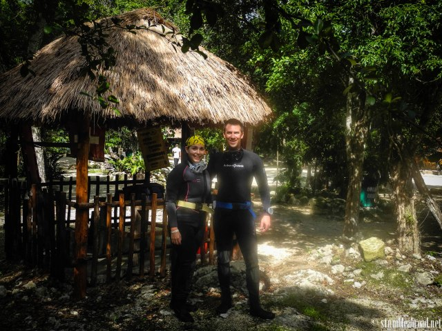 About to jump in a Cenote