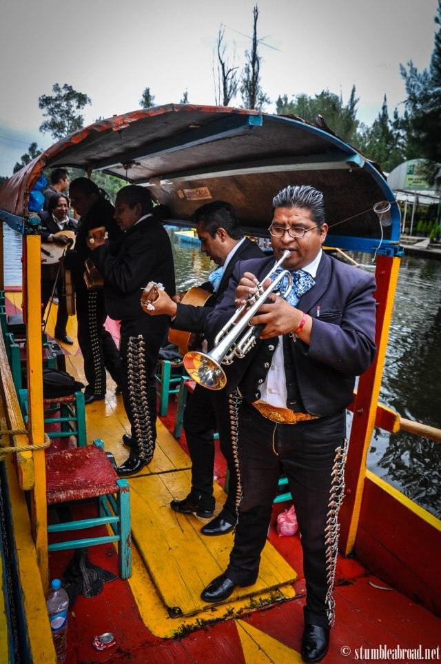 A floating Mariachi Band