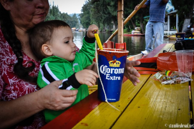 Josh enjoying Mommy's Michelada