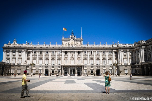 Arriving at the Palacio Real
