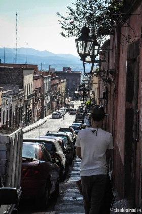 Walking on the cobble streets of San Miguel de Allende