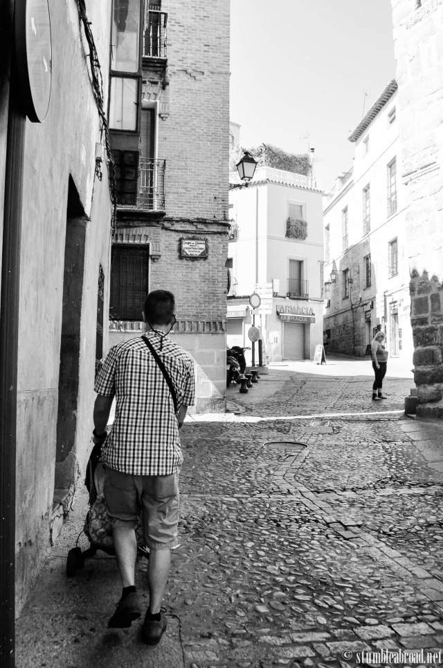 Strolling in the cobble streets
