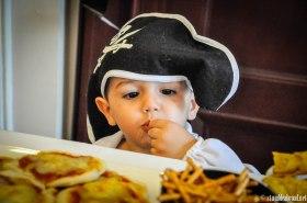 Joshua enjoying the pretzel sticks