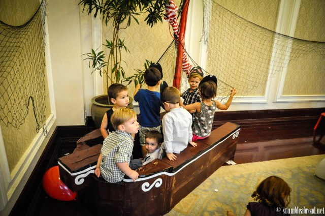 How many kids can you fit in a pirate ship?