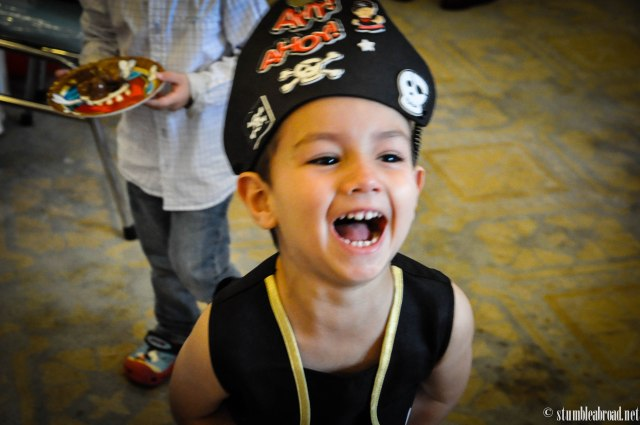 Evan with his pirate hat