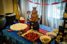Chocolate Fountain with homemade Marshmallows
