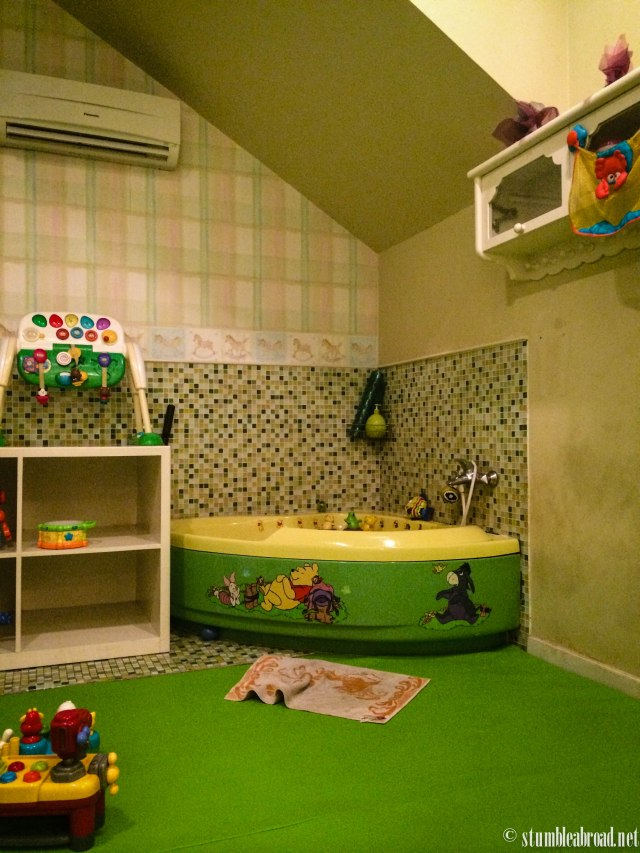 One of the baby spa rooms.