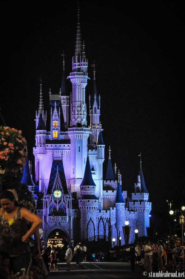 The Castle at night.