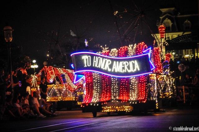 Beautiful patriotic cart.