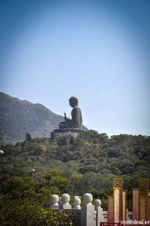 Huge Buddha statue.