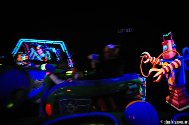 Buzz Lightyear's Ranger Spin... This is Evan's favorite ride.